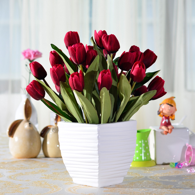 Fashion Artificial Flower Decoration Flower Set Artificial Flower Living  Room Dining Table Fashion Vase Overall Floral