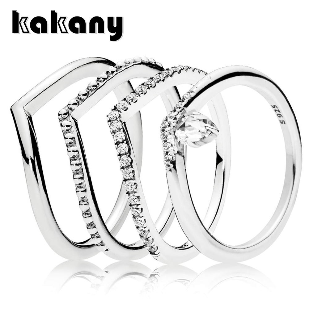 KAKANY New 1:1 Standard 925 Sterling Silver Women's Unique Charm Fantasy Shiny Luxury Zircon Ring Anniversary(China)