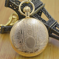 Antique Pure Copper Cover Vintage Style Wind Up Mens Mechanical Pocket Watch 5 Hands W Snake