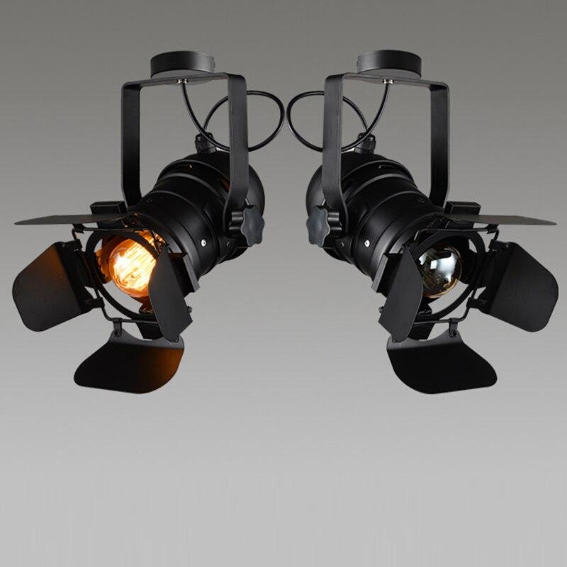 Retro Mini Lampada Da Parete di Base GU10/E26/E27 Luce Industriale amp Regolabile 4 Foglia di Apparecchio di Illuminazione per il Caffè negozio di Bar Luci di Casa
