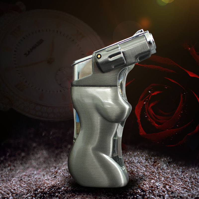 LED Body Torch Lighter Windproof Turbo Pipe Cigar L