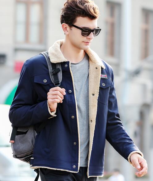 Ciel Beige Version or bleu gris Veste marron Mâle noir pu Hommes Manteau Loisirs ardoisé Coréenne Slim Mode 7pI8w