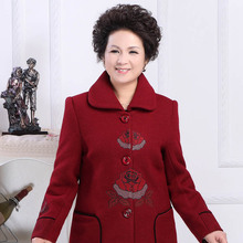 Middle-aged and old clothing women's windbreaker plus-size elderly grandmother autumn coat   PYmn