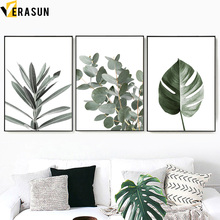 tropical Green Plant Monstera Olive Leaf Wall Art Canvas Painting Nordic Posters And Prints Pictures For Living Room Decor