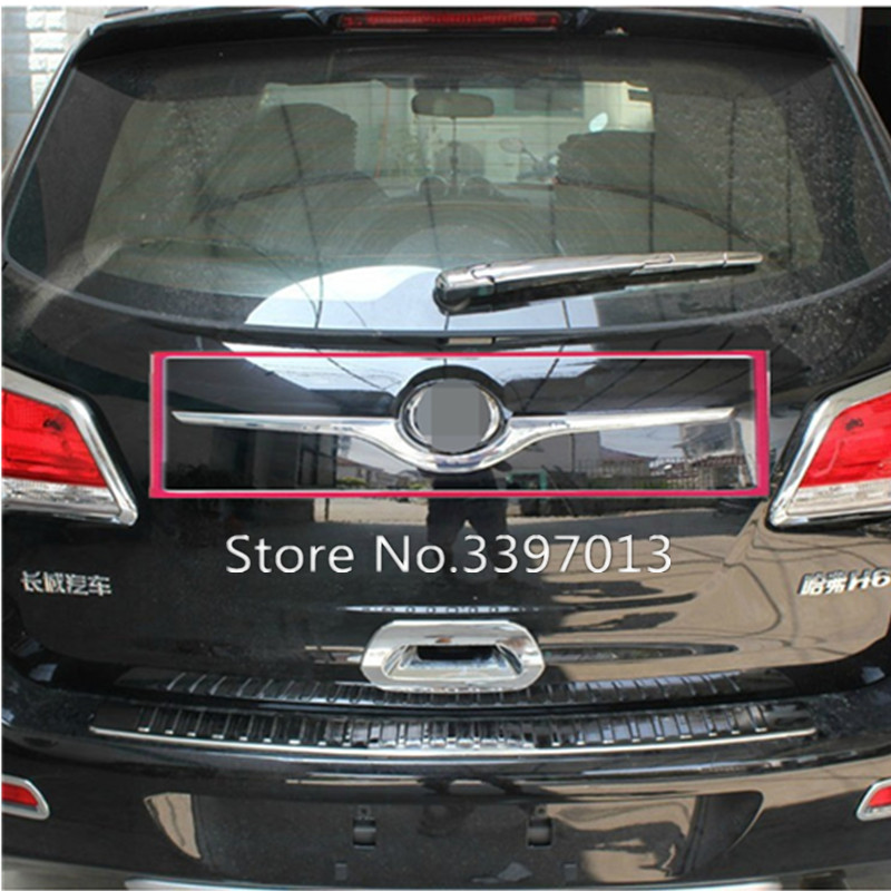 Car styling ABS Chrome Rear Trunk Lid Cover Trim For 2011 2014 Great Wall Haval Hover