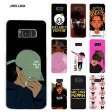 2bunz Melanin Poppin Aba Phone Case for Samsung Galaxy M20 M10 S10 S9 S8 Plus S7 S6 Edge Note 8 9 Hard Plastic Cover Coque(China)