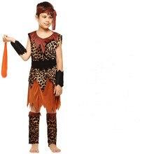 Los niños India Halloween traje de Carnaval primitivo Cosplay Idea para  niños africanos de los niños aborígenes salvaje trajes b7bfff534c2