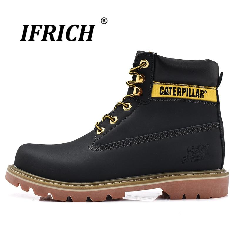 Original 2019 jaune brun foncé hommes bottes en caoutchouc anti-dérapant chaussures décontractées pour homme moyen coupe hommes travail bottes de sécurité bonne qualité