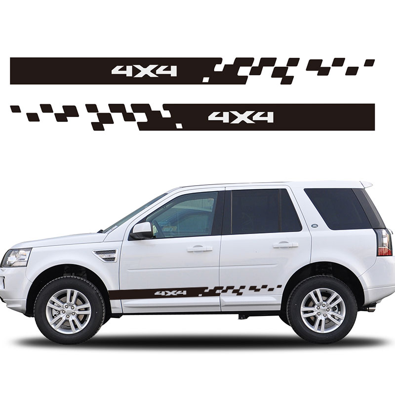 YONGXUN, 2PCS FOR Land Rover Discovery 006 side racing stripes decals graphics stickers 4x4 Car Styling Accessories Dt-66 for land rover range rover sport freelander 2 discovery 4 2006 2014 car styling led fog lights lamp crystal blue blue 12v