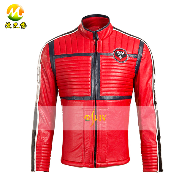 My Chemical Romance Mikey Way Cosplay Costume the Punk bank COS Red Jacket  For Men Best