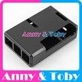 Модель S7: Raspberry PI 3 модель B Черный Корпус Корпус Корпус ABS Пластиковые Окна для Ран pi 2 и Raspberry PI Модель B +