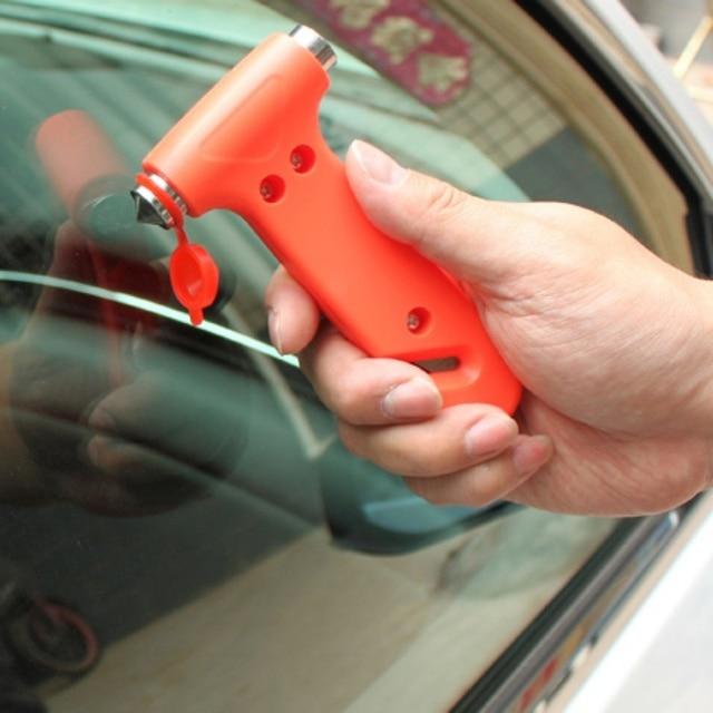 2 w 1 Mini młotek bezpieczeństwa samochodu ratujący życie młotek nóż do cięcia narzędzie wielofunkcyjne samochód okno Broken w nagłych wypadkach element do tłuczenia szkła