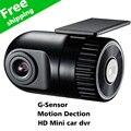 Mini Coche DVR HD Cámara de Vídeo Grabación Del Ciclo 1280x720 P Vehículo Negro Caja avtoregistrator gran angular G-Sensor detector de Coche dvr