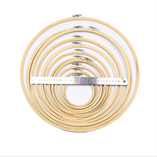 11pcs 10-40cm Vintage Embroidery Hoops Frame Set Handmade Bamboo Embroidery Rings for DIY C