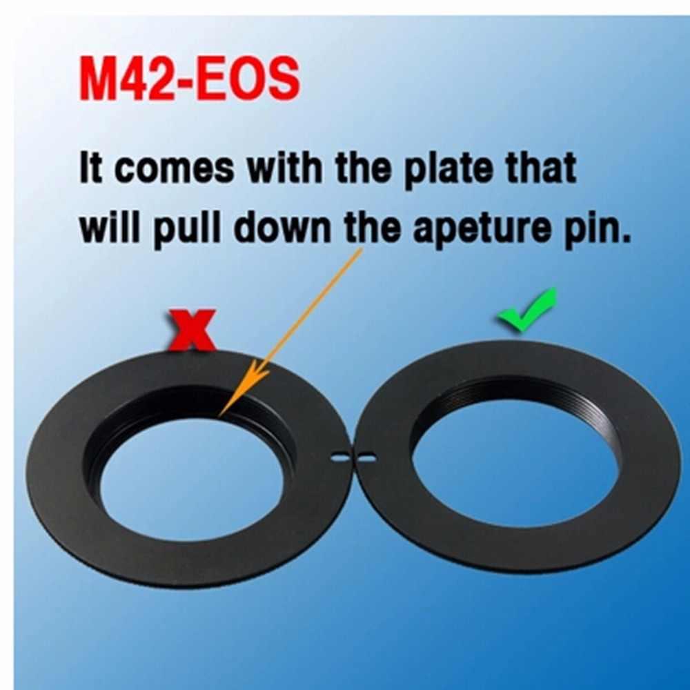 Lente M42 para Canon EOS anillo adaptador 4 Rebel XSi T1i T2i