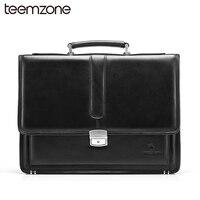 Hot Business Bag Men's Genuine Leather Vintage Formal Business Lawyer Briefcase Messenger Shoulder Attache PortfolioTote T8880