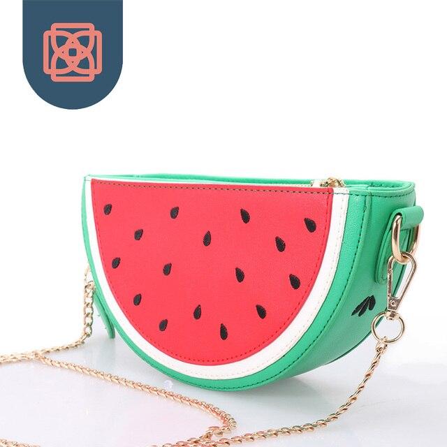 Woman Messenger Bags Designer Handbag Watermelon Clutch  Chain Shoulder Bag Purse Wallet