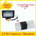 "4.3 ""espejo de coche monitor LCD TFT + de visión trasera aparcamiento copia de seguridad de la cámara para VW Touareg Tiguan Antiguo Passat Santana Polo Sedan"