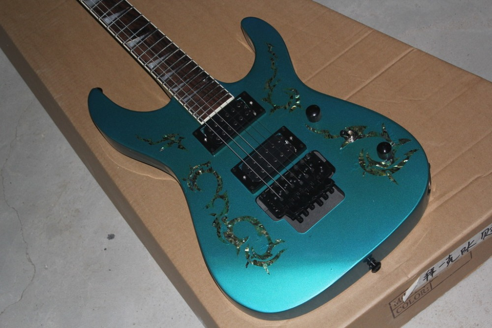 Guitar hero wireless guitar picture more detailed picture about metallic blue contour body jackson electric guitar string through body jackson guitar abalone flower on the ccuart Gallery
