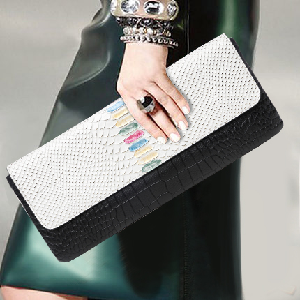 High Quality Chain Shoulder Bag Multi Card Hand Clutch Evening Bag Serpentine Genuine Leather Wristlets Purse Cover Long Wallet vintage serpentine genuine leather woman clutches evening bag crossbody chain shoulder bag handbag clutch wallet lady long purse