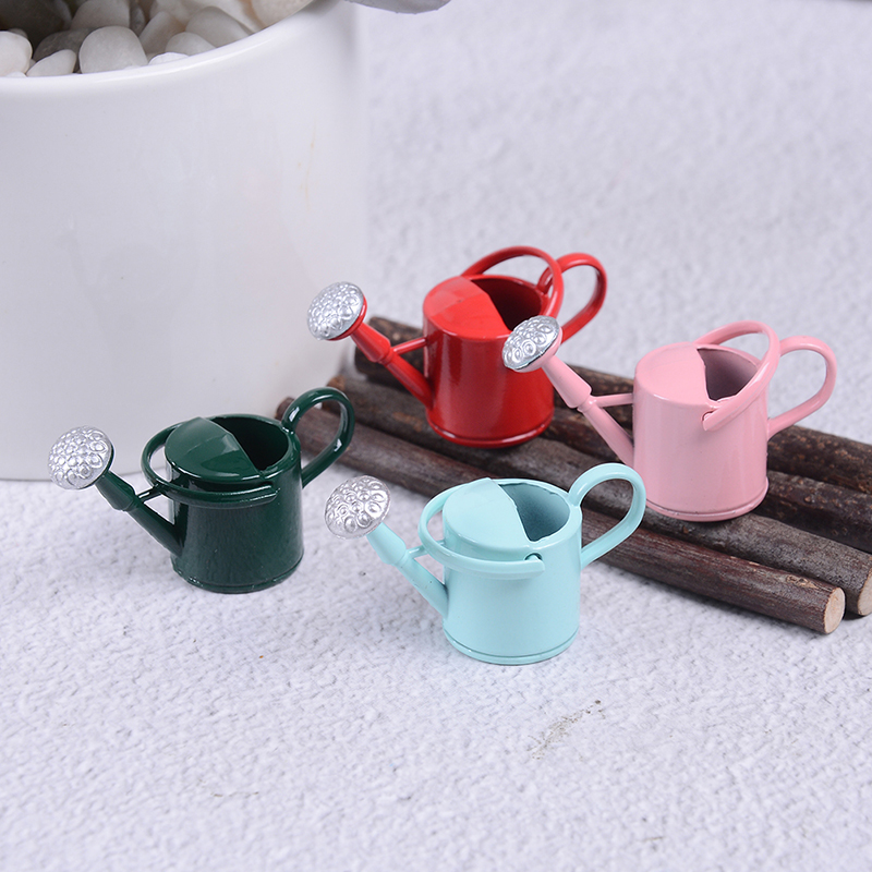 Image 4 - New Arrival 1/12 Metal Watering Can Garden Miniature Decoration For Children Kids Dolls Acces Dollhouse Miniature Furniture-in Furniture Toys from Toys & Hobbies