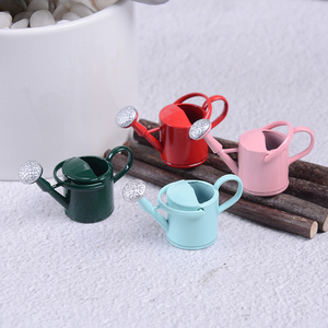 Image 4 - New Arrival 1/12 Metal Watering Can Garden Miniature Decoration For Children Kids Dolls Acces Dollhouse Miniature Furniture