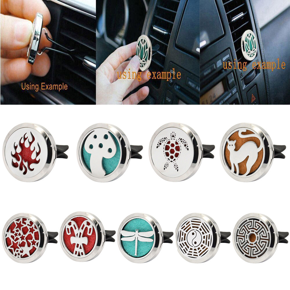 Automobiles & Motorcycles Stainless Car Air Auto Vent Freshener Essential Oil Gift Decor Clip Decoration High Qualty Fragrance Material_1.24 Air Freshener