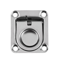 42 x 1 Pcs 42 x 36mm Durable Marine Stainless Steel Boat Deck Hatch Cabinet Drawer Lifting Handle Pull Ring Flush Mount Boat Hardware (2)