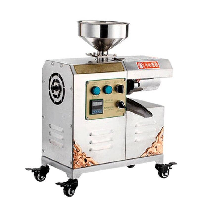 Machine de presse à huile d'acier inoxydable de presseur d'expulseur d'extraction d'huile de catégorie commerciale pour la graine, arachide de noix, noix de coco