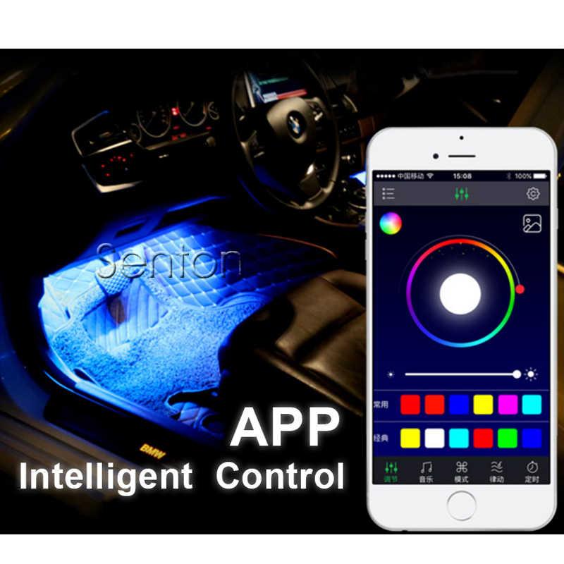 Zd車ネオンランプ用アンドロイドios app制御用アウディa4 b6 b8 vwパサートb5 b7シュコダオクタa7 a5ルノーメガーヌ2 3フォードフォーカス