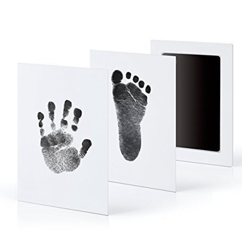 Non Toxic Baby Handprint Footprint Imprint Kit Baby Souvenirs Newborn Footprint Ink Pad Infant Clay Toy Gifts