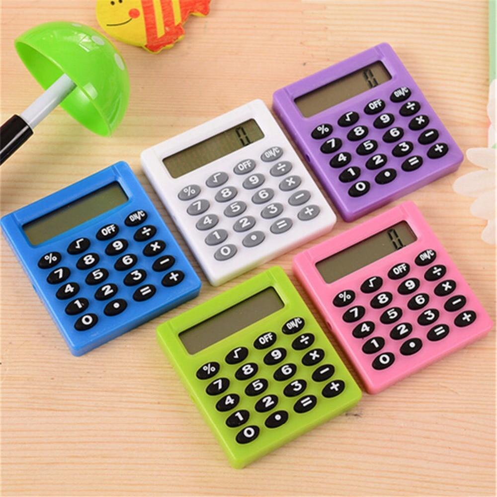 Ручной силикона научных многофункциональный мини калькулятор карманный калькулятор Солнечная Калькуляторы для офиса обучение студентов