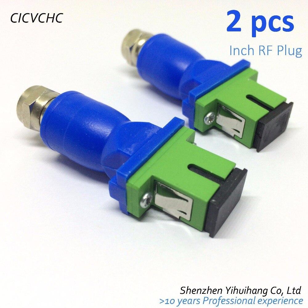 2 pcs Passif récepteur optique, SC/APC, pouces RF Prise CATV, optique récepteur,