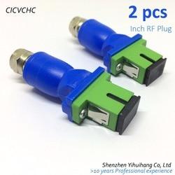 2pcs Passive optical receiver, SC/APC, Inch RF Plug CATV, optical receiver,