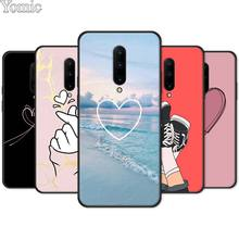 kpop Love on the finger kpop heart Soft Cover for Oneplus 7 7 Pro 6 6T 5T Silicone Phone Case for Oneplus 7 7Pro Black Case
