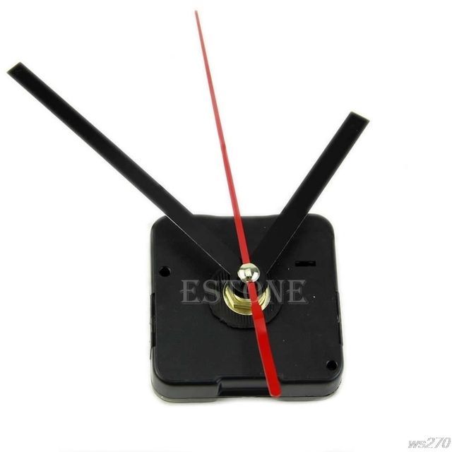 Hot sale Quartz Clock Movement Mechanism DIY Repair Parts Black + Hands W15 Drop Ship