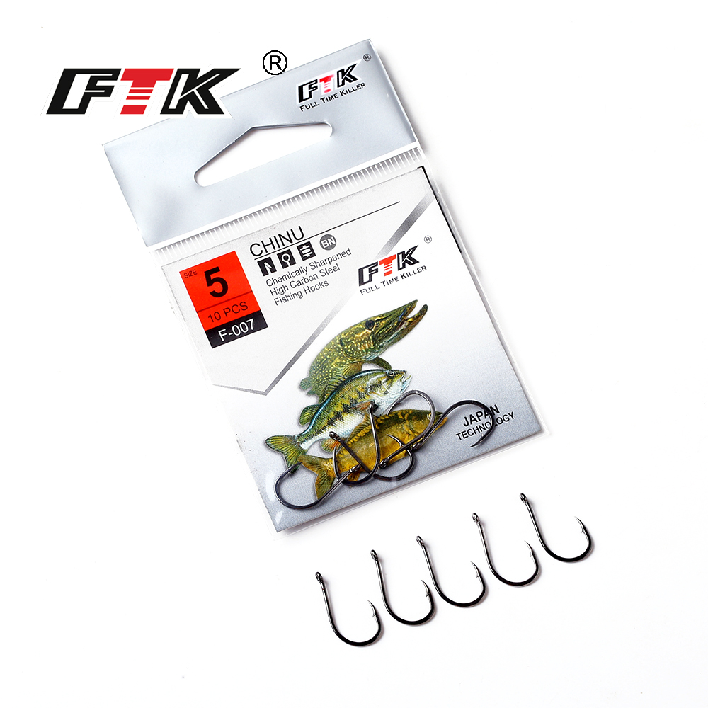 FTK Barbed fishhook 10PCS/LOT Size 3#-Size12# Fishing Mustad From Japan Fishing Hook Jig Carp Feeder Anzol Fishhooks Fishing Tac