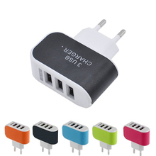 цена на 3 Ports 2A Hub USB Port EU Plug AC Charger Adapter 110-240V Wall Home Travel Mobile Phone Charger For iphone Huawei Samsung