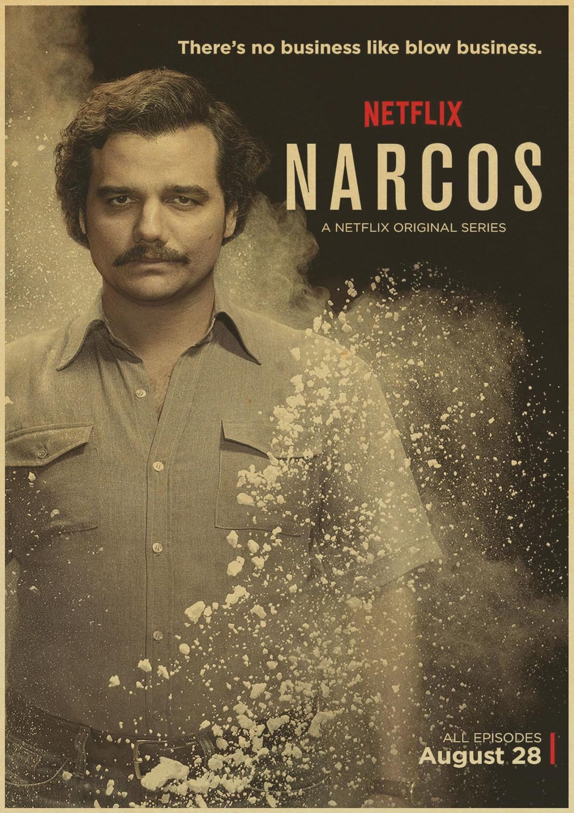 Steve murphy crimen columbia season narcos tv serie vintage poster decorativo di