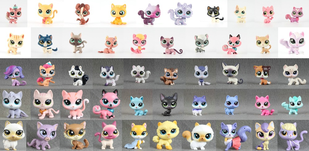 1pcs LPS Pet Collection Figure Cat Kitty Persian Siamese kitten Animals Child Loose Cute Toys