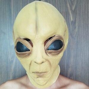 Image 1 - Halloween Latex Masker alien masker Cosplay prestaties props spookhuis spelen