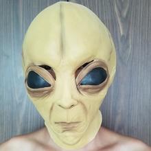Маска alien для Хэллоуина, латексная маска для косплея, реквизит для представлений с привидениями