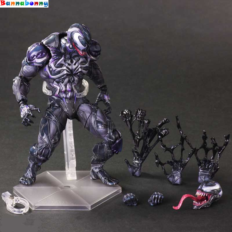 2018 New style Venom Play Arts Kai Action Figure Spiderman Venom Collectible Model Toy 260mm PVC Anime Avenger Playarts Kai batman joker action figure play arts kai 260mm anime model toys batman playarts joker figure toy