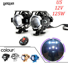 125W 3000LMW Led Chips U5 Waterproof Motorcycle Headlight Motorbike LED Driving Fog Spot Head Light font