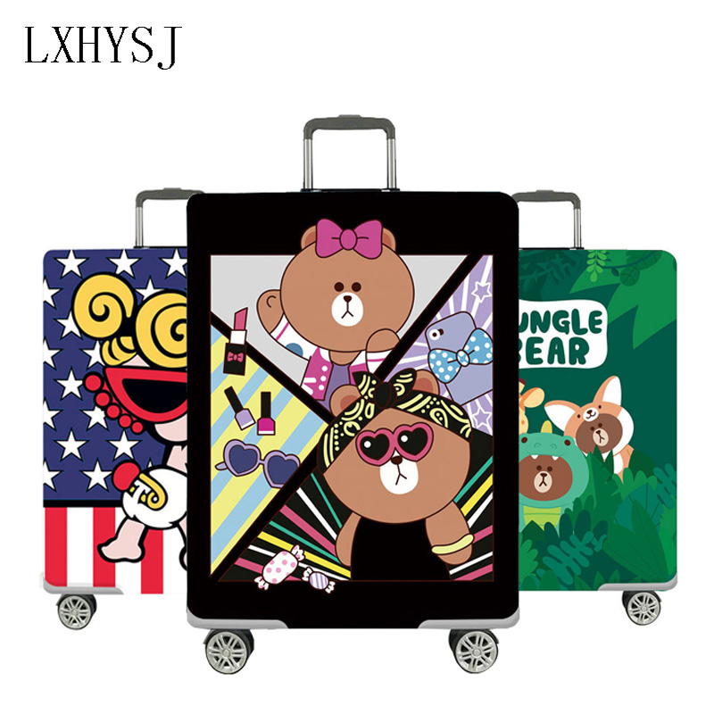 Animal Pattern Elasticity Luggage Cover Travel Suitcase Dust Cover  For 18-32 Inch Suitcase Case Dust Cover Travel Accessories
