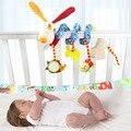 Mono feliz 4 estilos bebé toys suave colgante cochecitos de bebés coche colorido toys con sonajeros cama colgante bird electronic toys