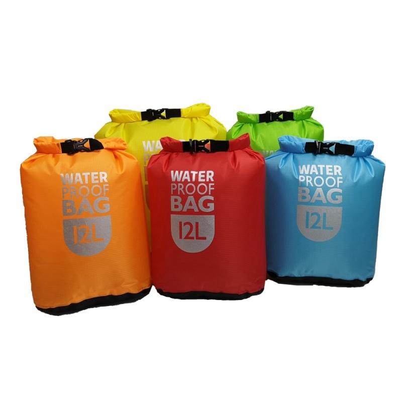 Outdoor 6L12L 24L Waterproof Dry Bag Pack Sack Swimming Rafting Kayak River Trekking Floating Sailing Canoing