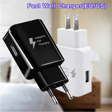 Adaptive Fast Charger For Samsung S10 Plus S9 S8 note 9 charger 5V 2A EU US Plug For Galaxy S9 S10 S8 Samsung A40 A50 Charger цены