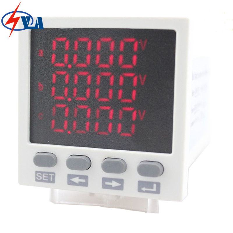 3D83 Digital display LED three phase multifunction meter price AC/DC 85V~265V mc 7806 digital moisture analyzer price with pin type cotton paper building tobacco moisture meter