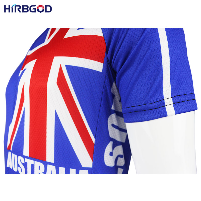 HIRBGOD Australia Flag Cycling Jersey Men Summer Short Sleeve Mountain Bike  MTB Cycling Wear Men High Quality Bike Clothes 89e7fa670